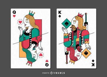 Spielkarten gesetzt