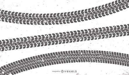 Conjunto de faixas de pneus