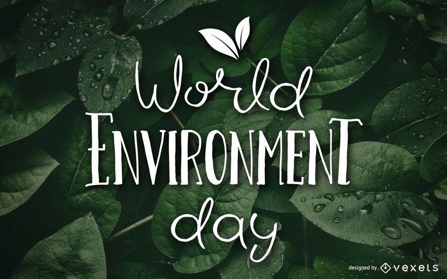 Design de papel de parede do dia mundial ambiente
