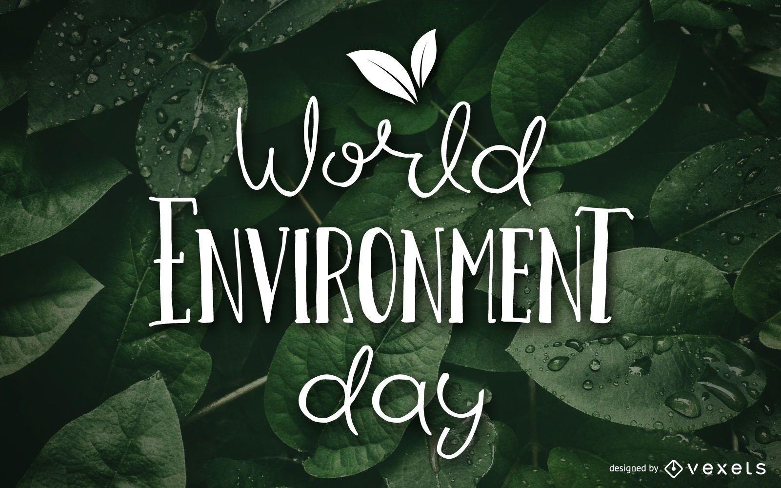 World environment day wallpaper design