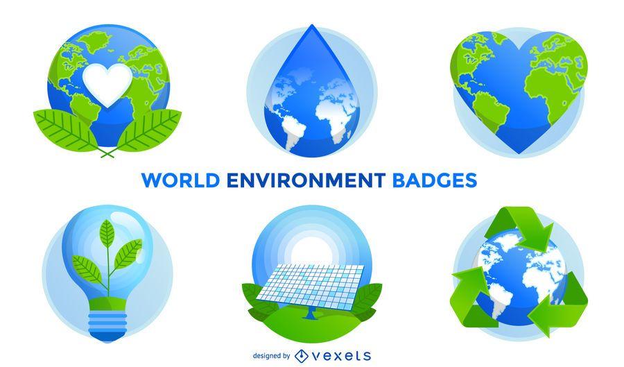 Insignias del medio ambiente mundial