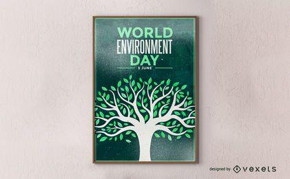 Cartel del día mundial del medio ambiente.