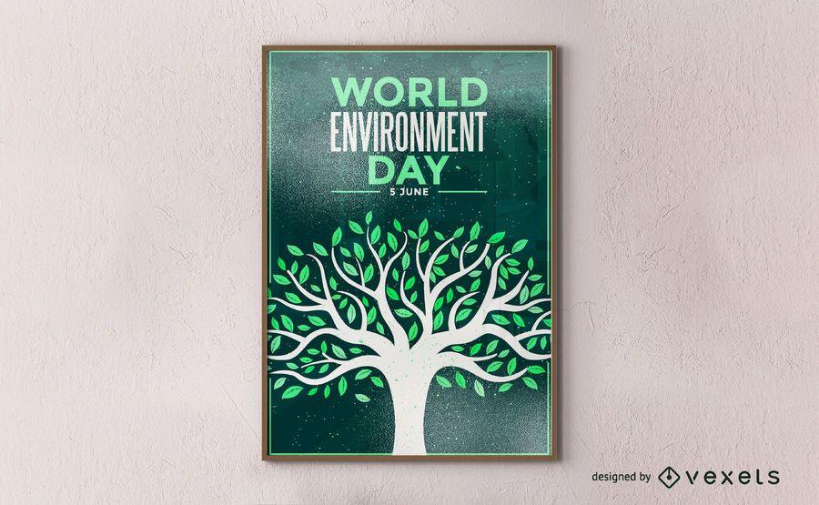Cartaz do dia mundial do meio ambiente