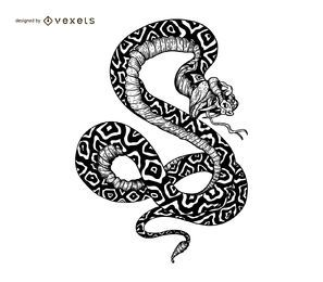 Snake illustration tattoo