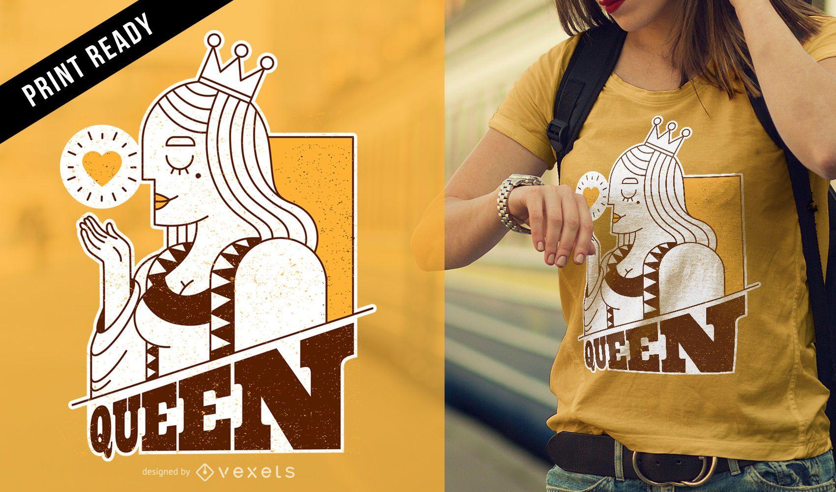 Queen card t-shirt design