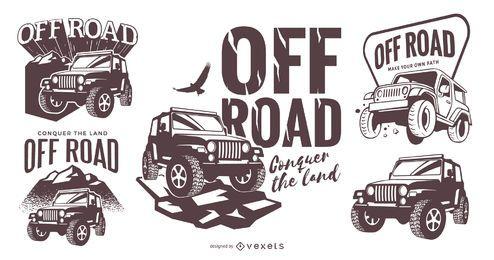 Off-Road-Logo-Vorlage festgelegt