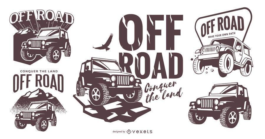 Conjunto de modelo de logotipo off road