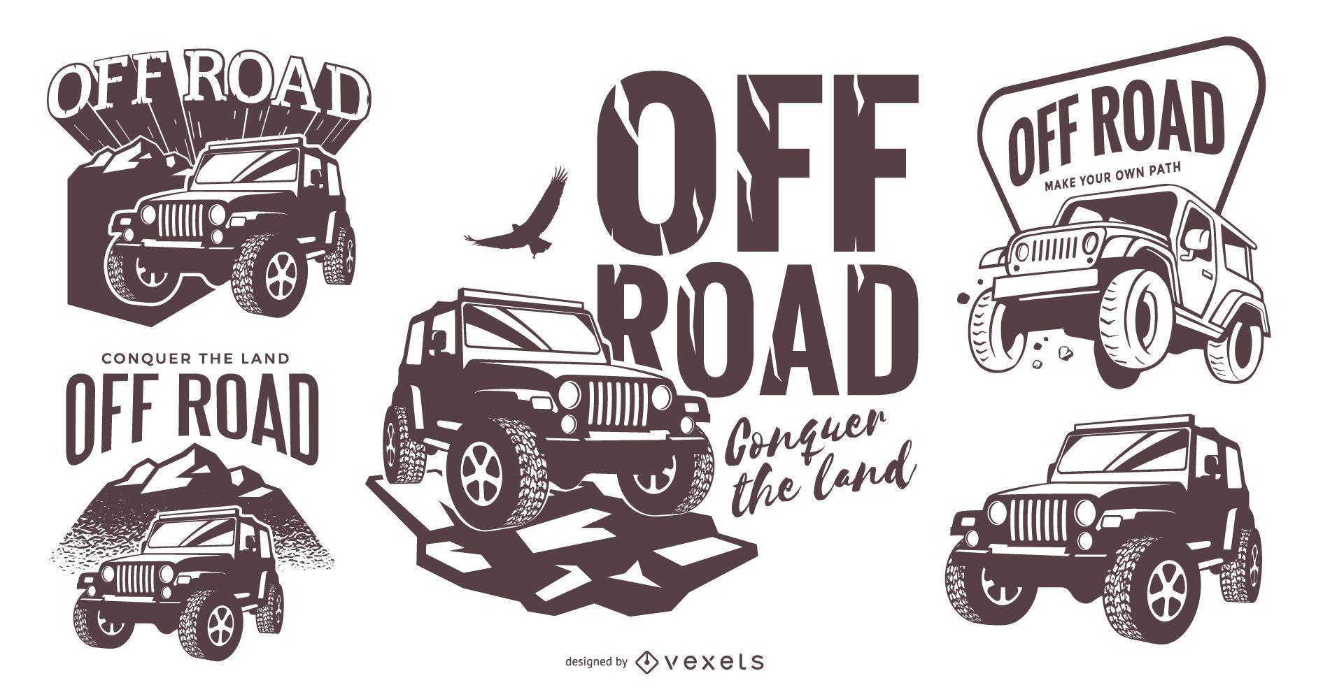 Off road logo template set