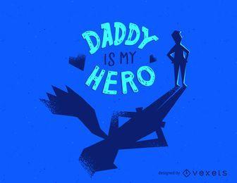 Projeto do t-shirt do herói do paizinho