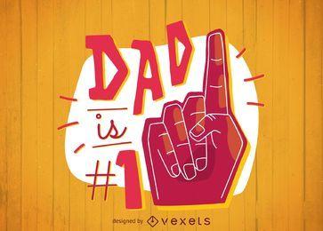 Diseño de camiseta papá número uno