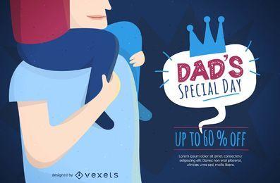 Banner de dia especial do pai