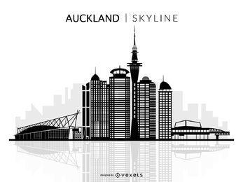 Skyline de Auckland isolado