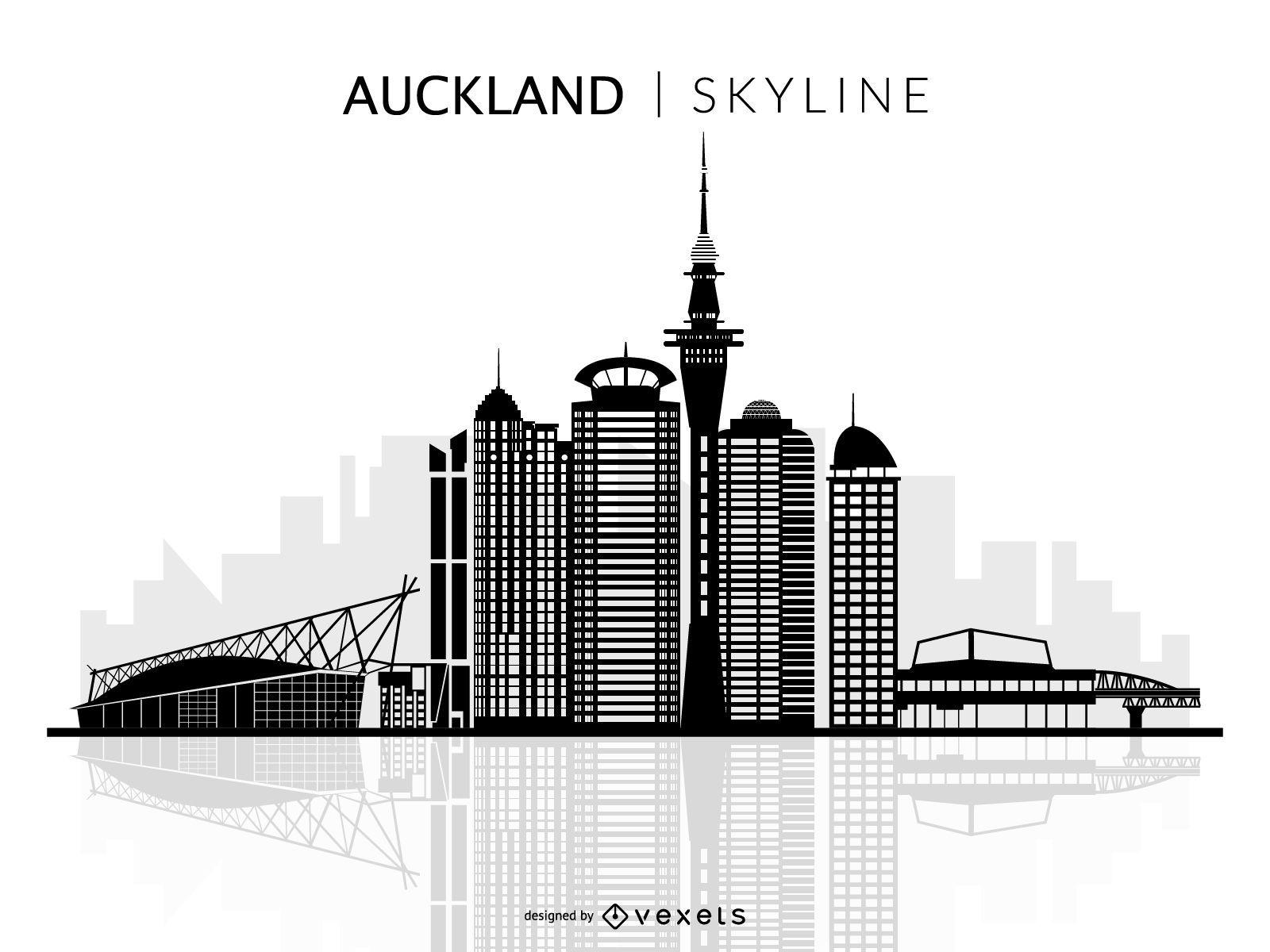 Isolated Auckland skyline