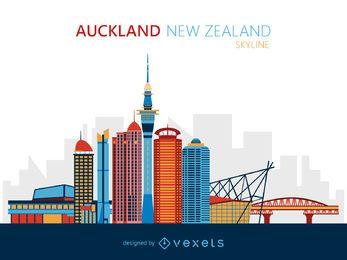 Ilustração do horizonte de Auckland