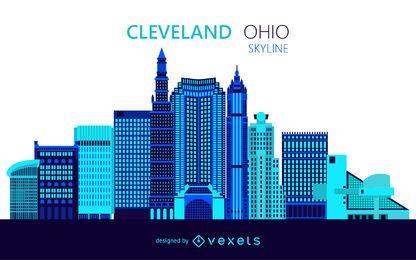 Ilustração do horizonte de Cleveland