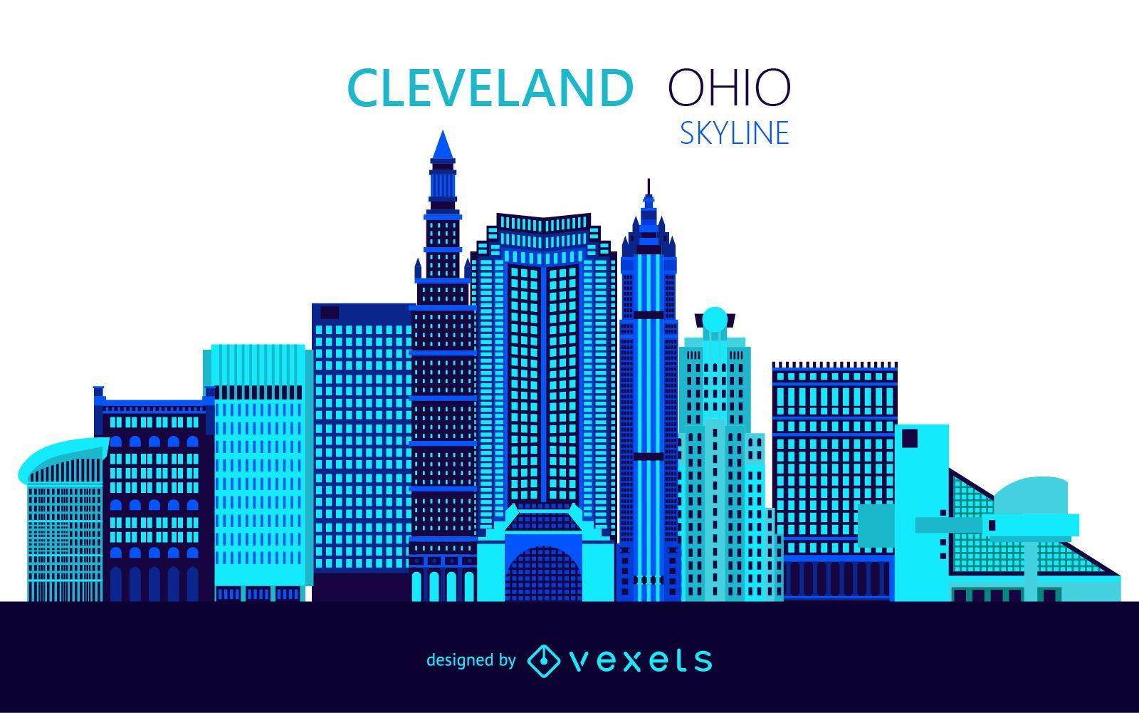 Cleveland skyline illustration