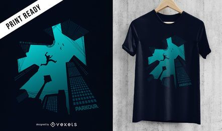Design de camiseta Parkour