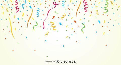 Bunter Partykonfetti-Hintergrund