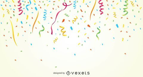 Fundo de confetes de festa colorida