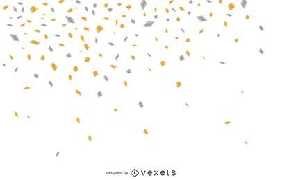 Confetti falling background