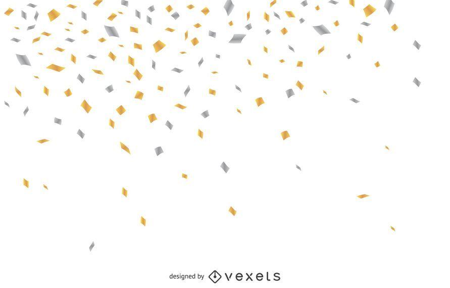 Confetes caindo fundo