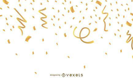 Fundo dourado Confetti