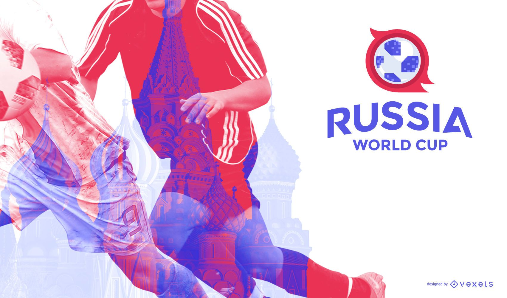 Russia 2018 football background