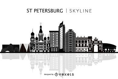 Getrennte Sankt-Petersburgskyline