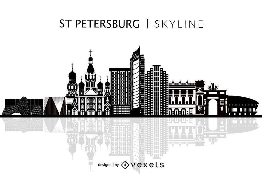 Skyline de São Petersburgo isolado