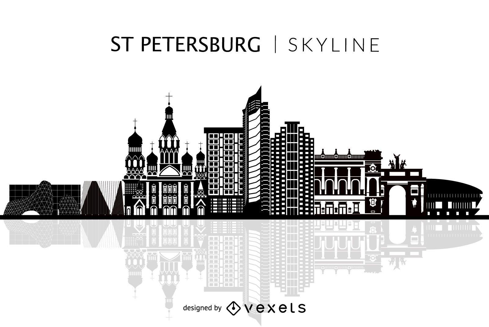 Isolated Saint Petersburg skyline