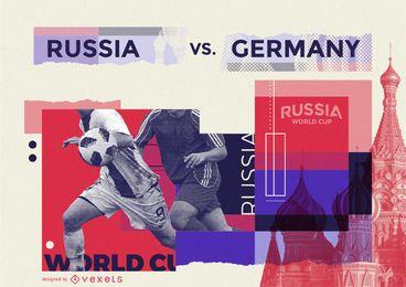 Tela de pré-visualização do jogo de futebol