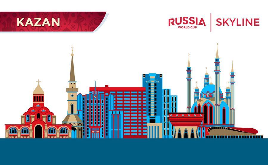 Horizonte de la ciudad de Kazan