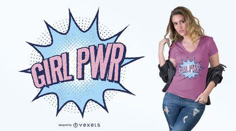 Projeto do t-shirt do poder da menina