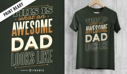 Impresionante diseño de camiseta de papá