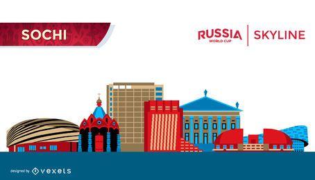 Flat Sochi Russia skyline