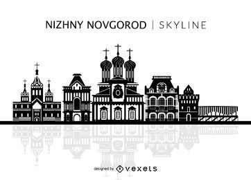 Nizhny Novgorod isolated skyline