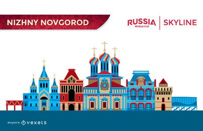 Skyline de Nizhny Novgorod