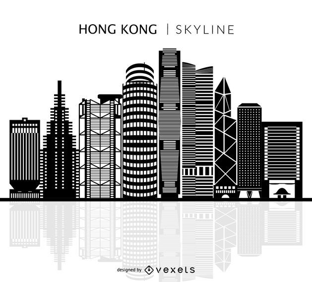 Skyline isolada de Hong Kong