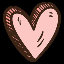3d corazón coloreado doodle