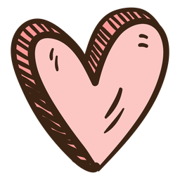 3d heart colored doodle