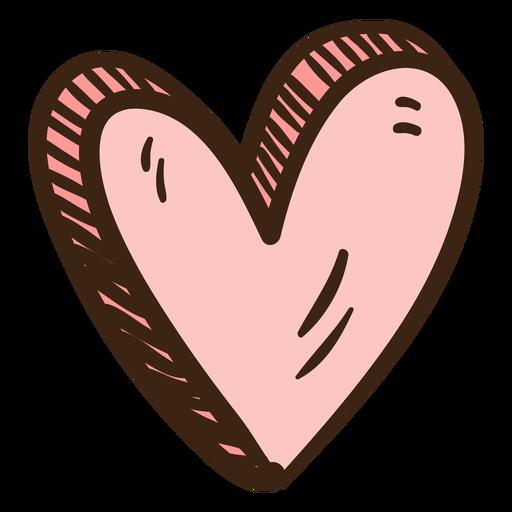 Doodle colorido coração 3D Transparent PNG