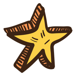 3d estrelas coloridas doodle