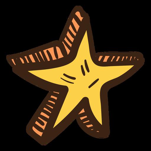 Doodle de color estrella 3d Transparent PNG