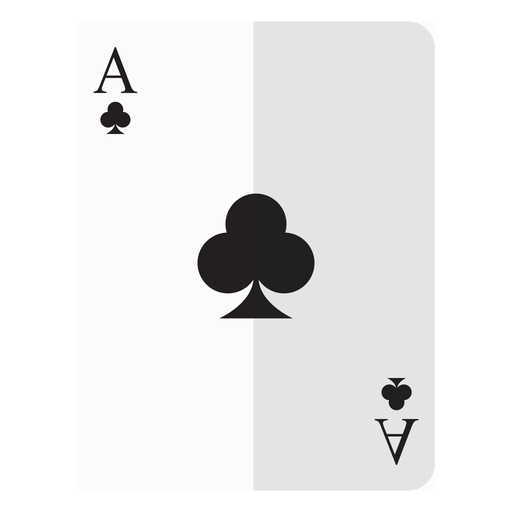 Ace of clubs card icon Transparent PNG