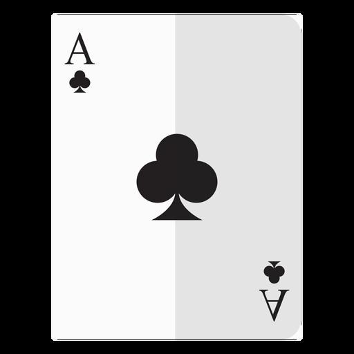 Icono de la tarjeta del as de los clubes. Transparent PNG