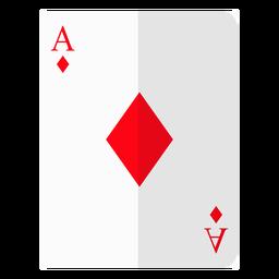 Icono de tarjeta de as de diamantes.
