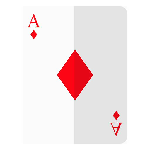 Ace of diamonds card icon Transparent PNG
