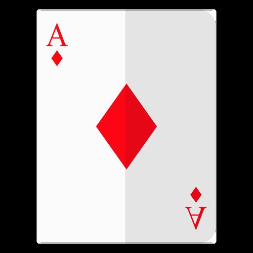 Ace of diamonds cartão ícone Transparent PNG
