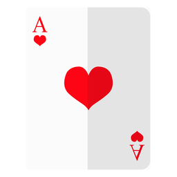 Ace of hearts card icon