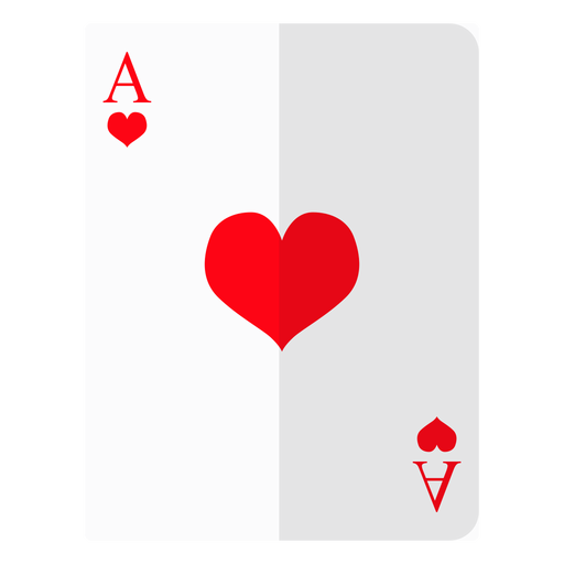 Ace of hearts card icon Transparent PNG